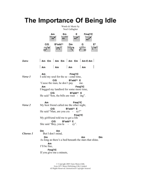 The Importance Of Being Idle