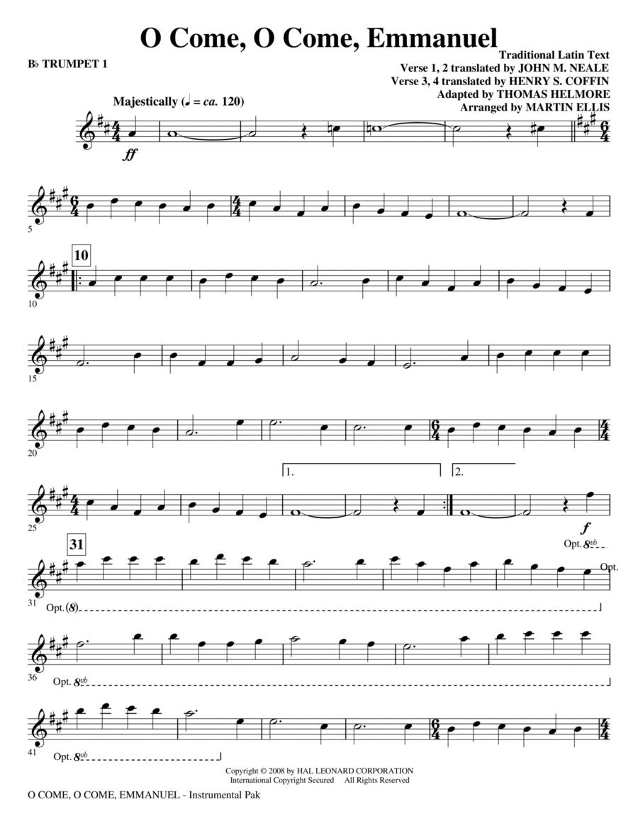 O Come, O Come, Emmanuel - Bb Trumpet 1