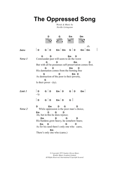 The Oppressed Song