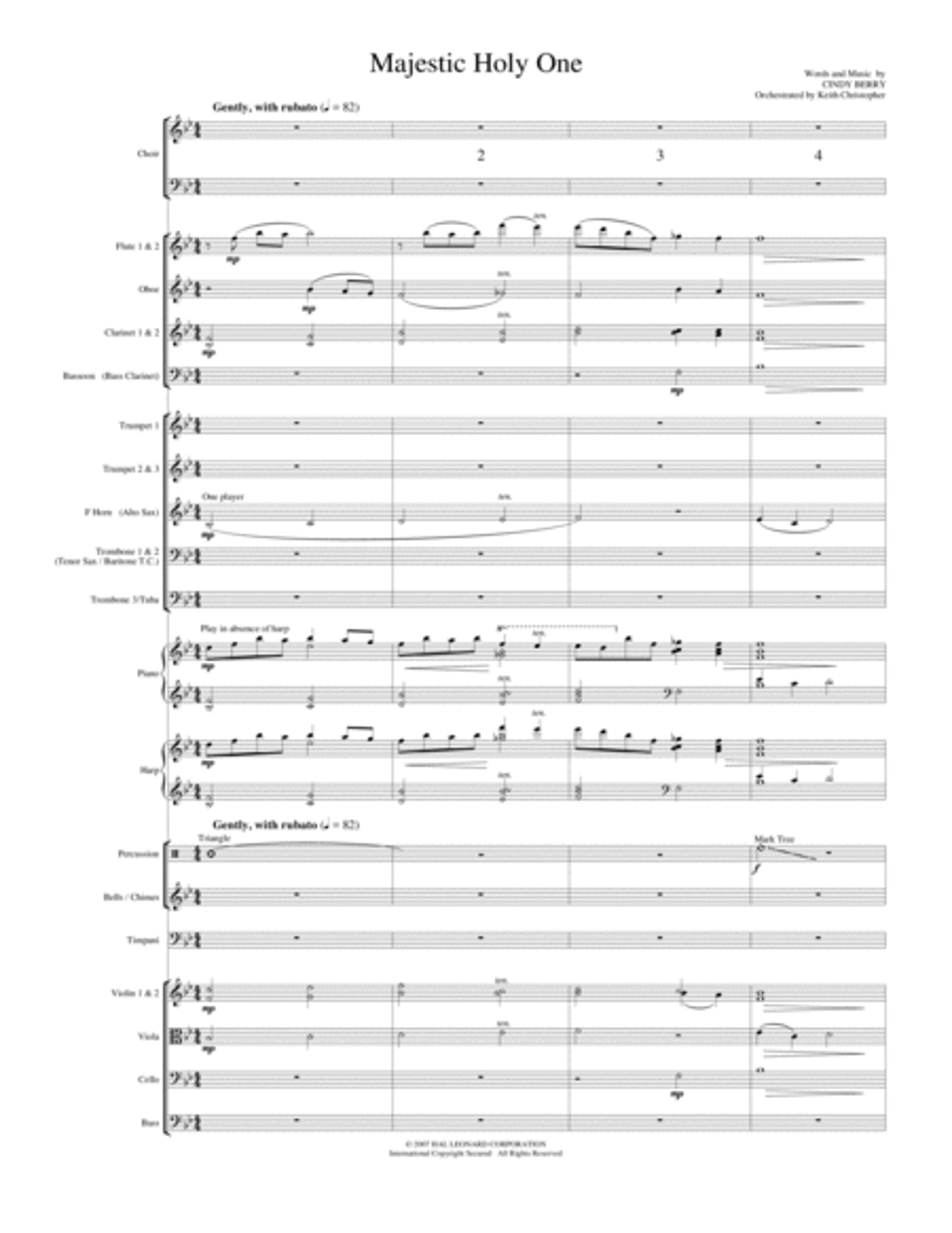 Majestic Holy One - Full Score