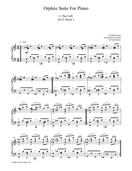 Orphee Suite For Piano, I. The Cafe, Act I, Scene 1