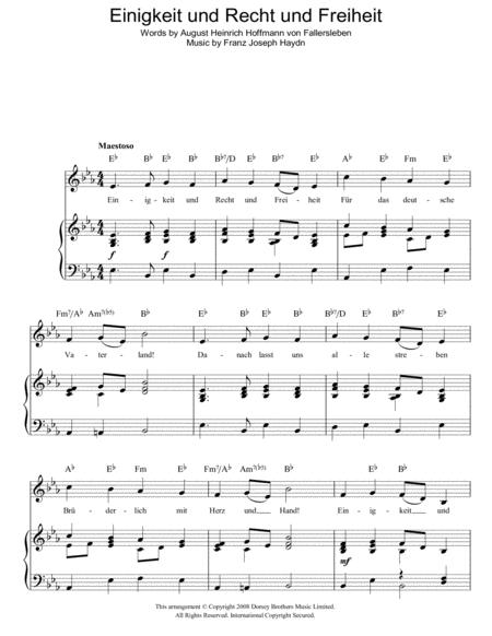 Einigkeit Und Recht Und Freiheit (German National Anthem)