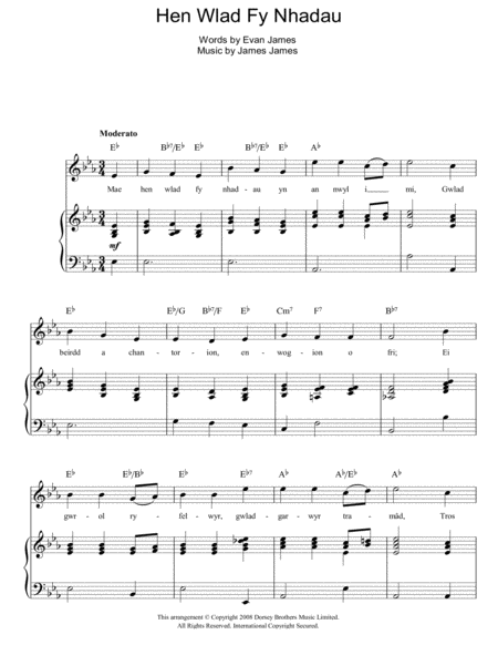 Guitar national anthem guitar tabs : Hen Wlad Fy Nhadau (Unofficial Welsh National Anthem)