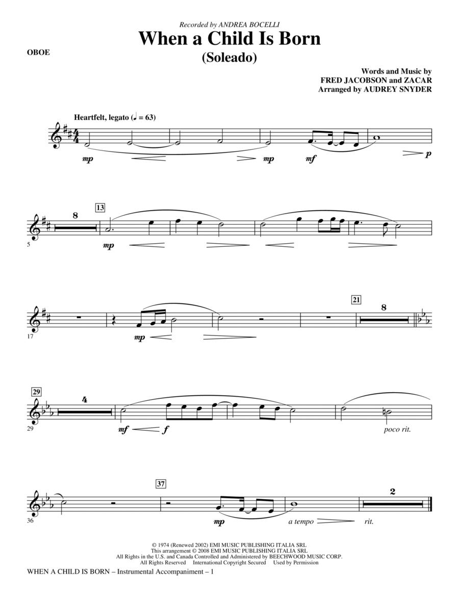 When A Child Is Born (Soleado) - Oboe