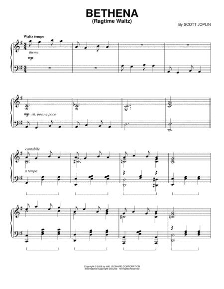 Bethena (Ragtime Waltz)
