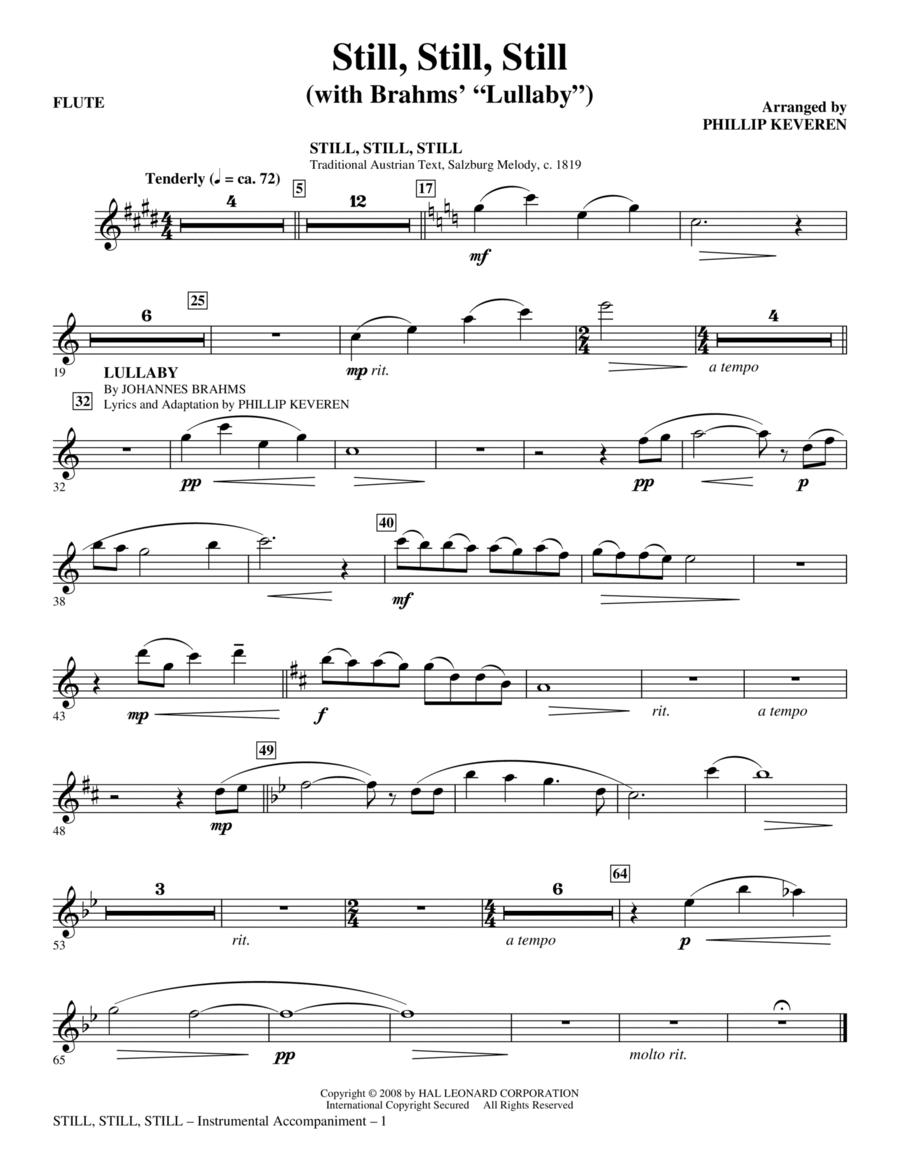 Still, Still, Still (with Brahms' Lullaby) - Flute