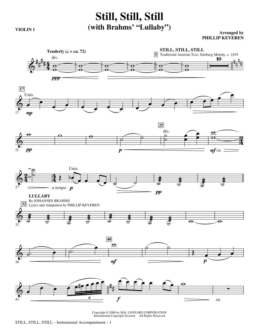 Still, Still, Still (with Brahms' Lullaby) - Violin 1