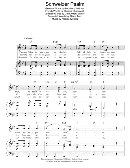 Guitar national anthem guitar tabs : Download Schweizer Psalm (Swiss National Anthem) Sheet Music By ...