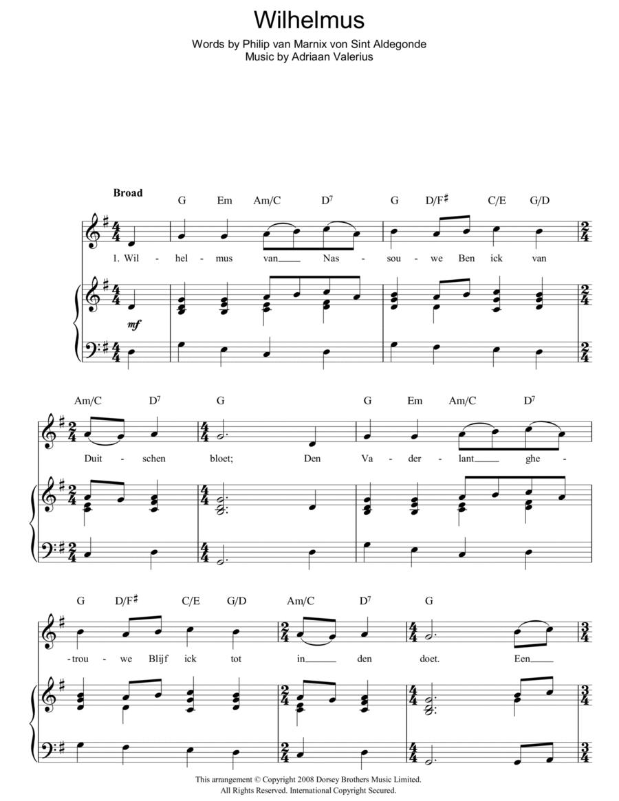 Wilhelmus (Netherlands National Anthem)