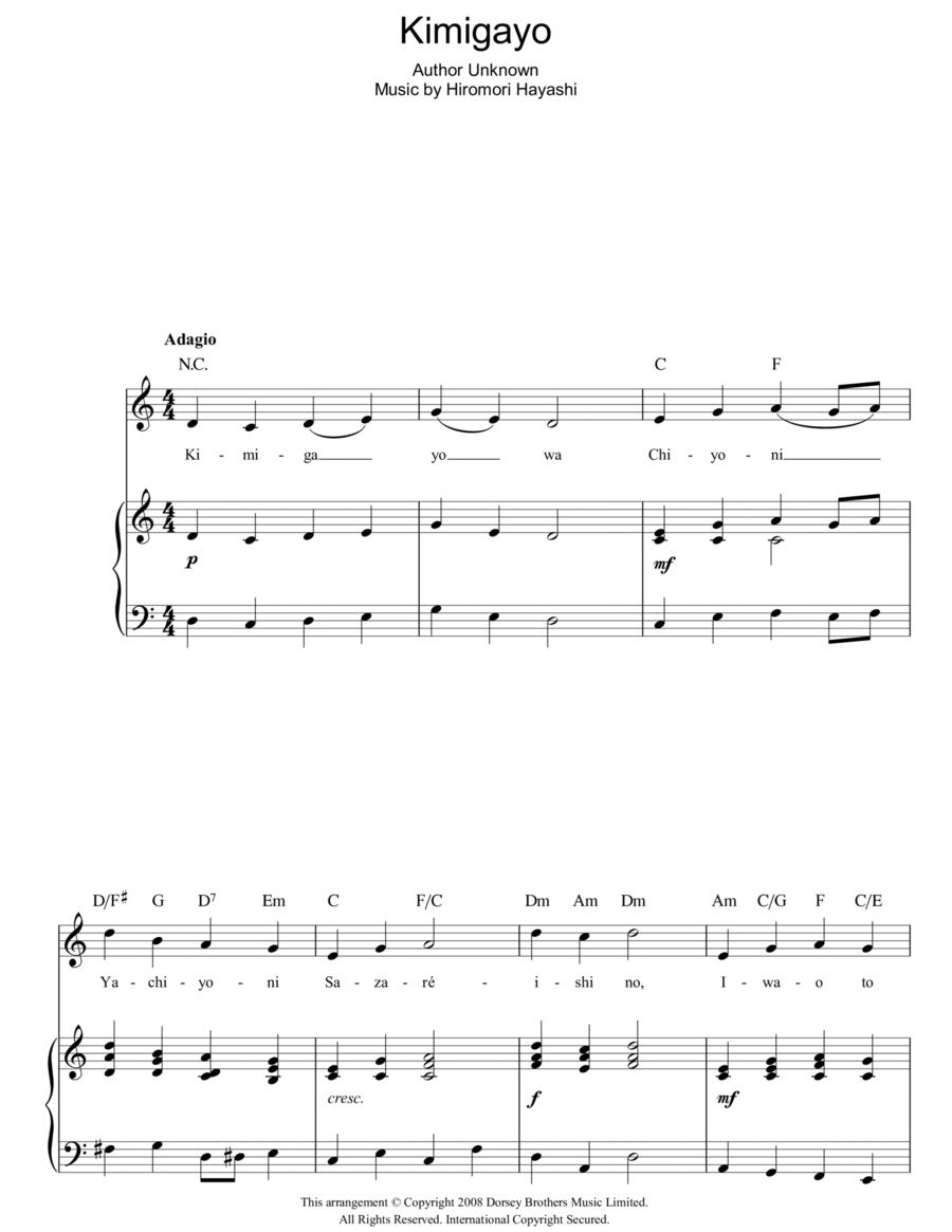 Kimigayo (Japanese National Anthem)