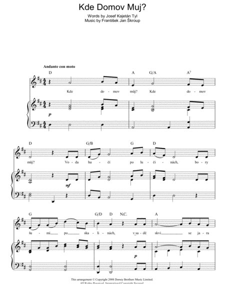 Kde Domov Muj? (Czech Republic National Anthem)