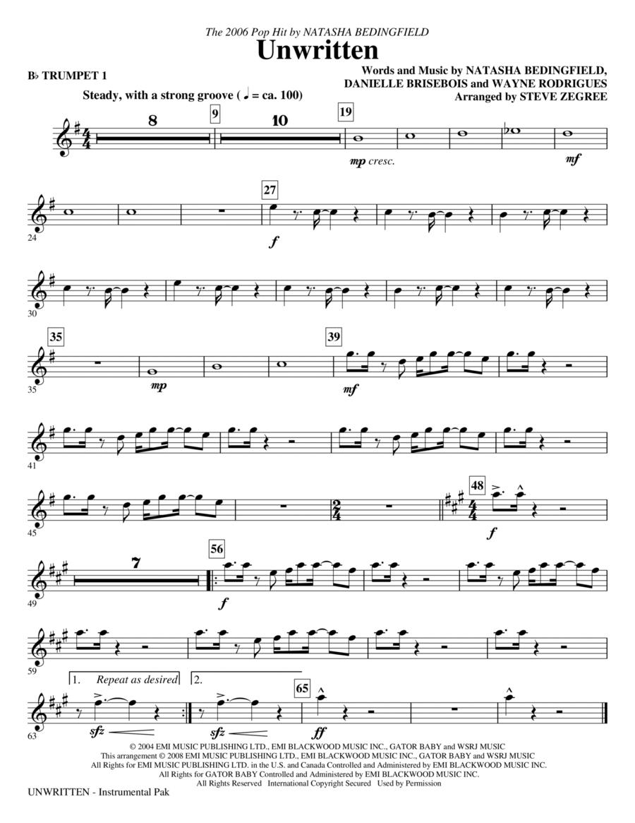 Unwritten - Trumpet 1