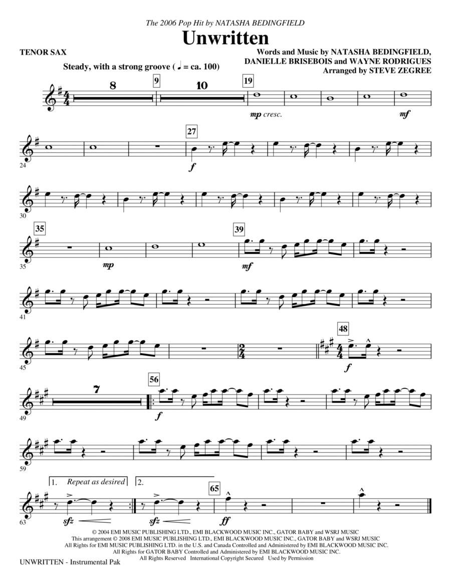 Unwritten - Tenor Sax