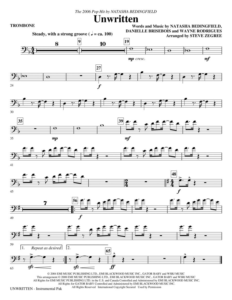 Unwritten - Trombone