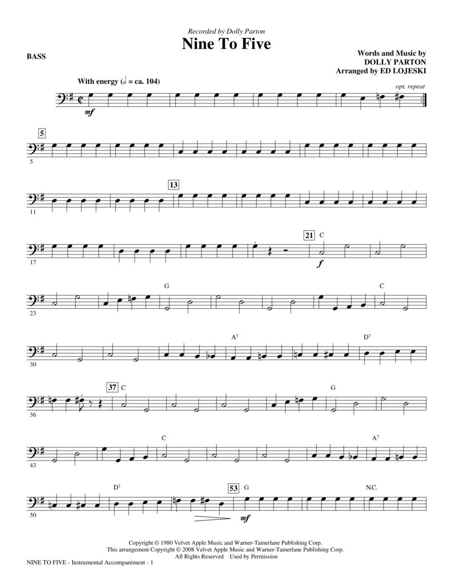 Nine To Five - Bass