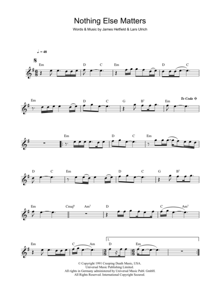 Piano piano tabs nothing else matters : Nothing Else Matters