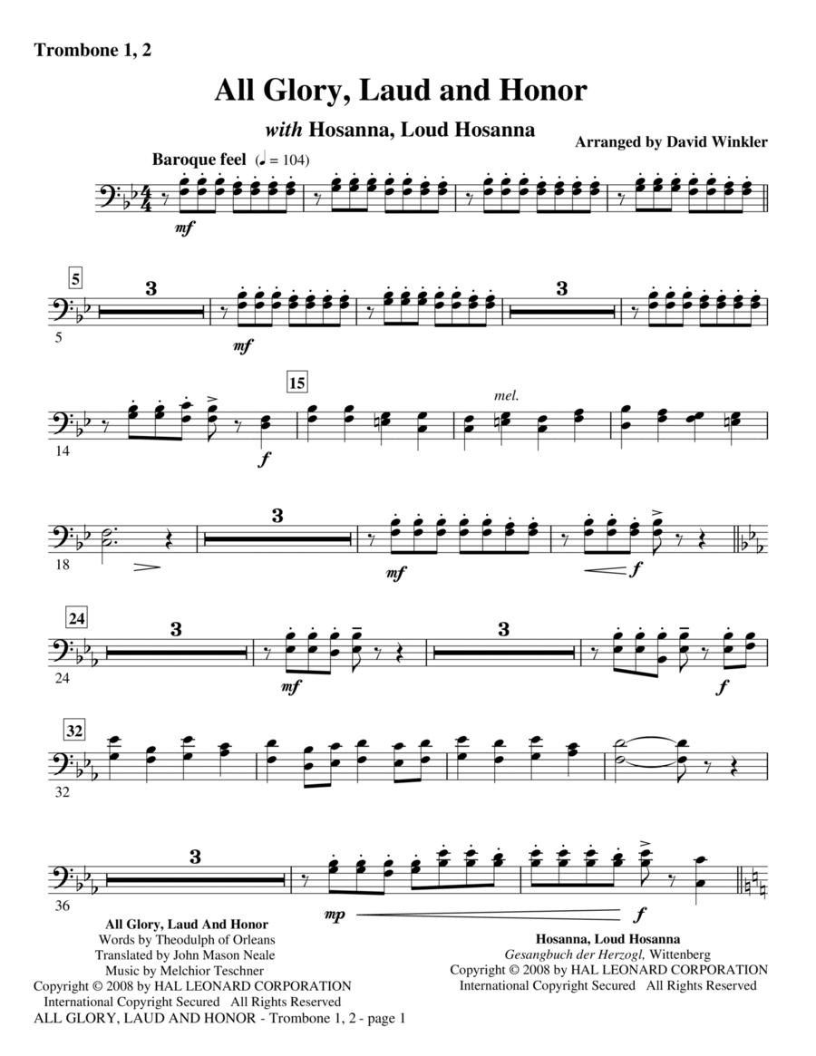 All Glory, Laud, And Honor (with Hosanna, Loud Hosanna) - Trombone 1, 2