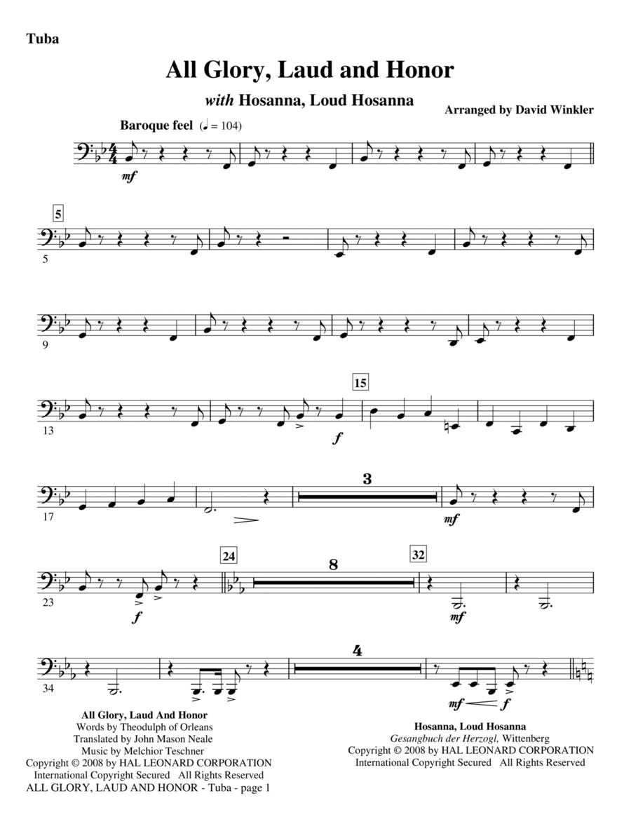 All Glory, Laud, And Honor (with Hosanna, Loud Hosanna) - Tuba