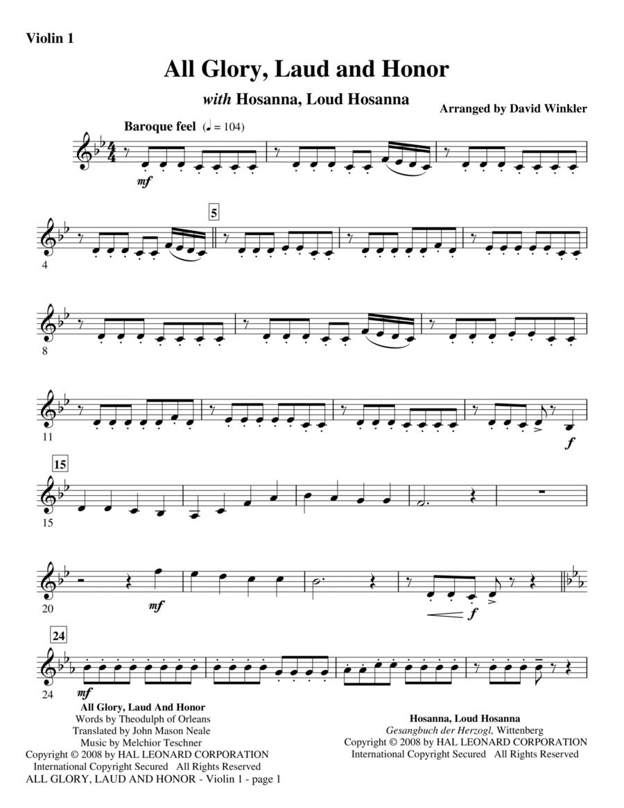 All Glory, Laud, And Honor (with Hosanna, Loud Hosanna) - Violin 1