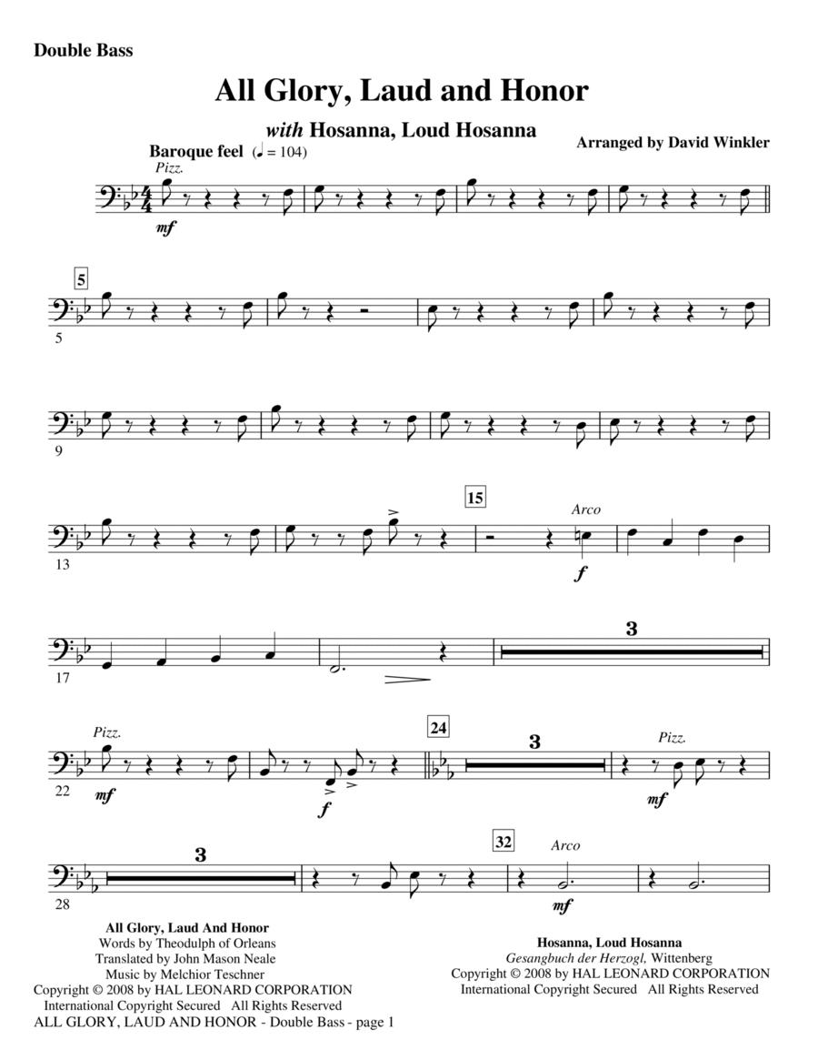 All Glory, Laud, And Honor (with Hosanna, Loud Hosanna) - Double Bass