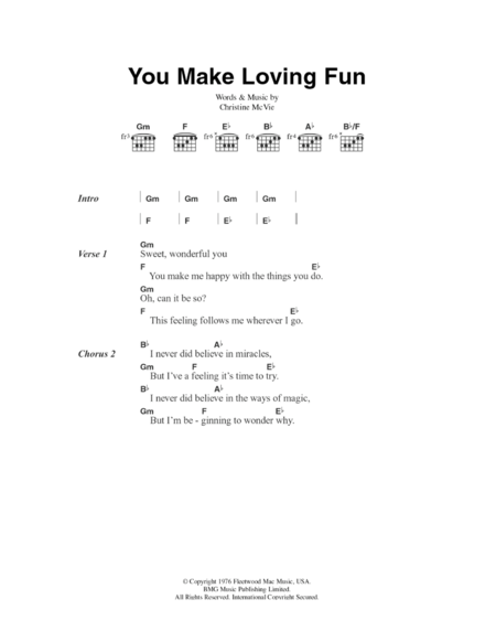 You Make Lovin' Fun