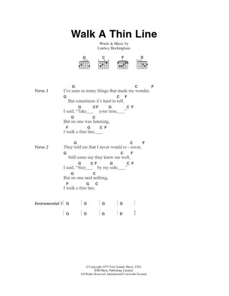 Walk A Thin Line