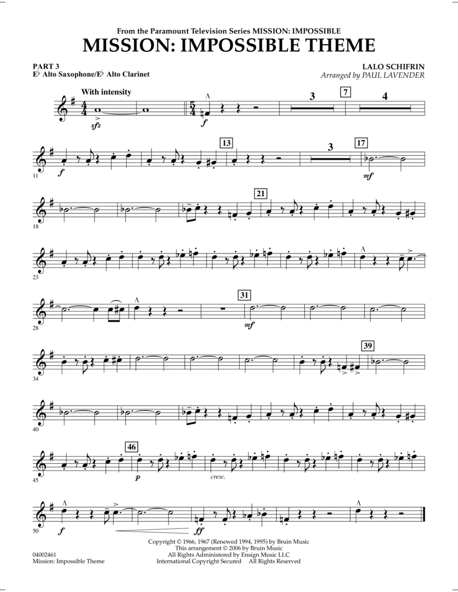 mission impossible sheet music pdf