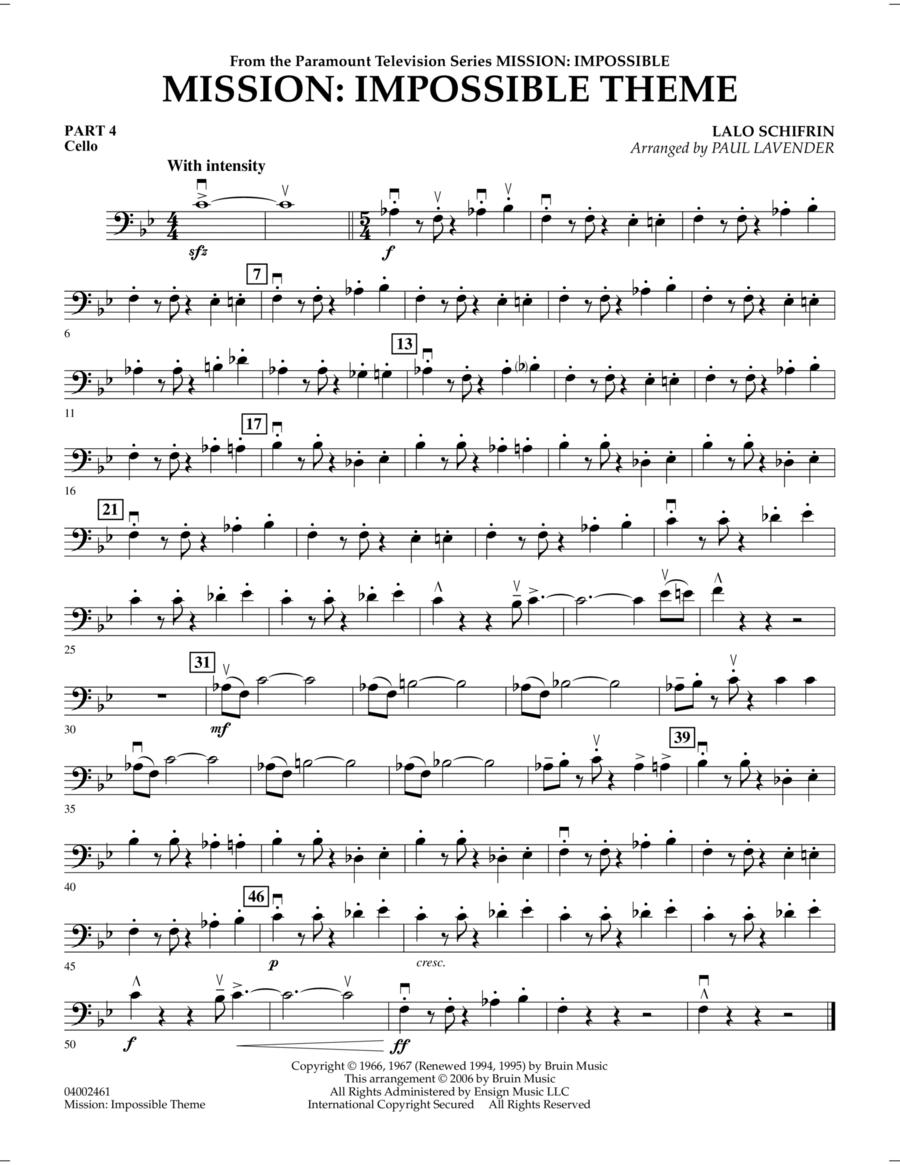 Mission: Impossible Theme - Pt.4 - Cello
