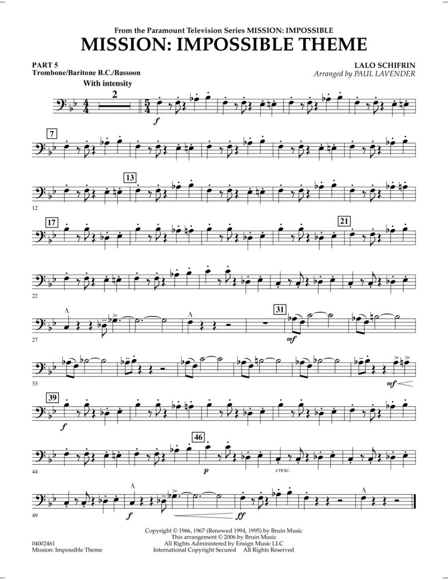 Mission: Impossible Theme - Pt.5 - Trombone/Bar. B.C./Bsn.
