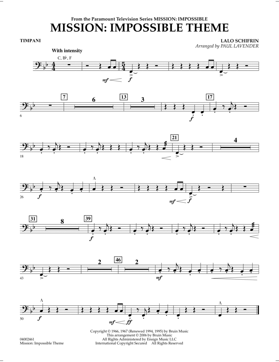 Mission: Impossible Theme - Timpani