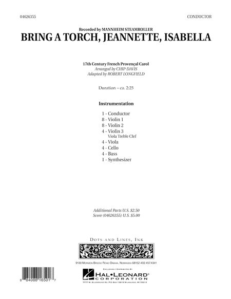 Bring a Torch, Jeannette, Isabella - Full Score