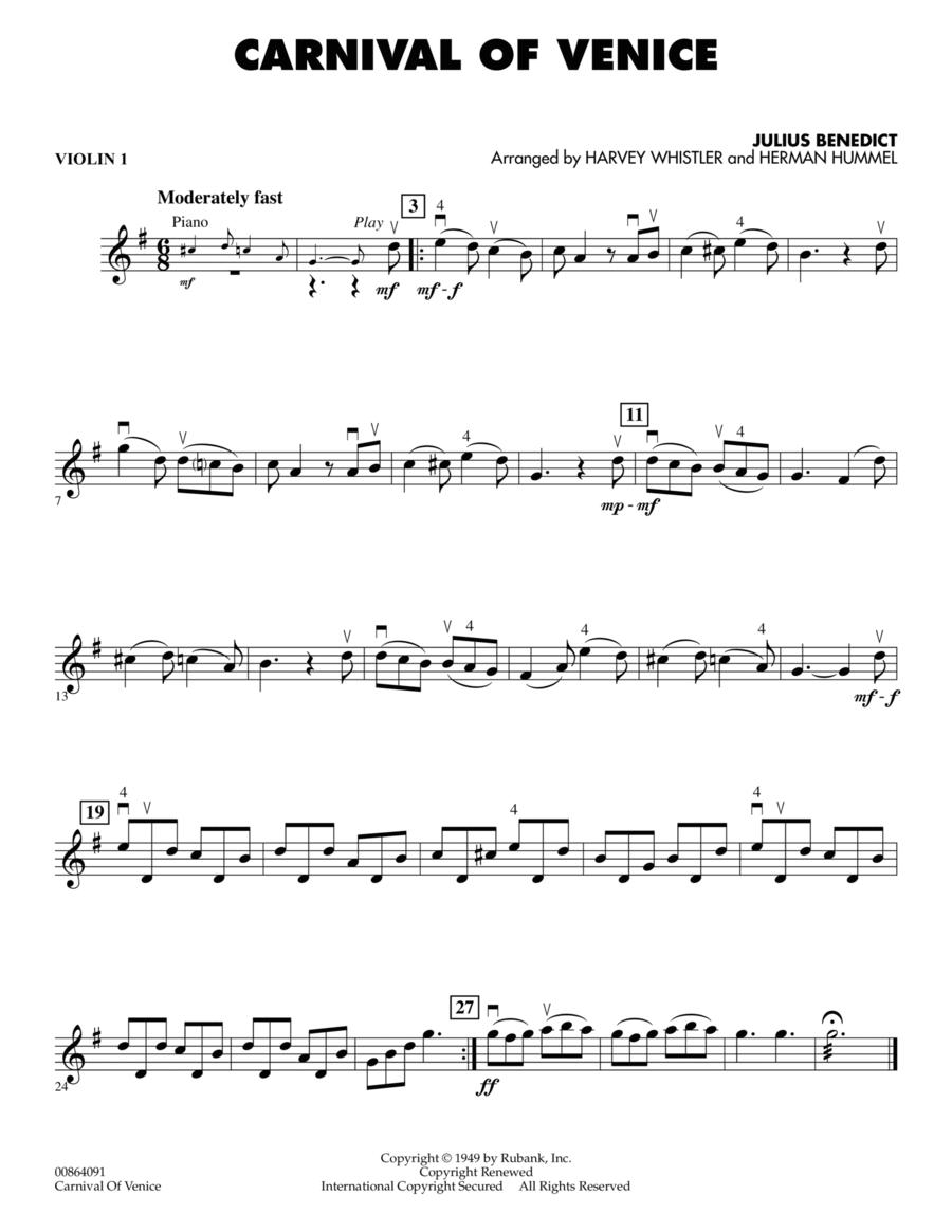 Carnival of Venice - Violin 1