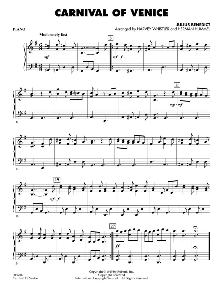 Carnival of Venice - Piano