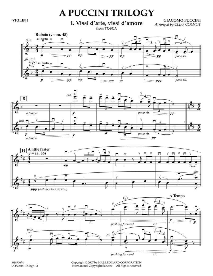 A Puccini Trilogy - Violin 1