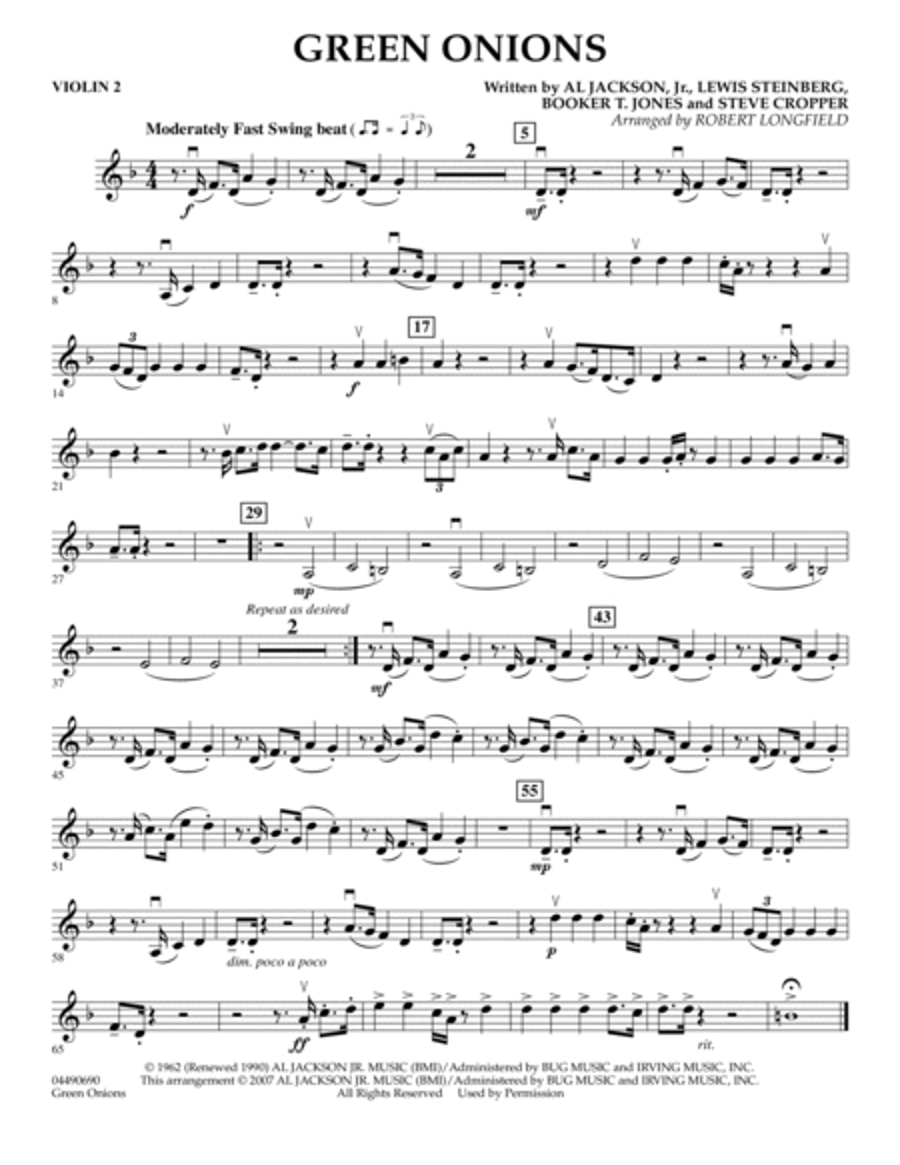 Green Onions - Violin 2