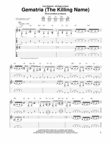 Slipknot - Gematria Lyrics | MetroLyrics