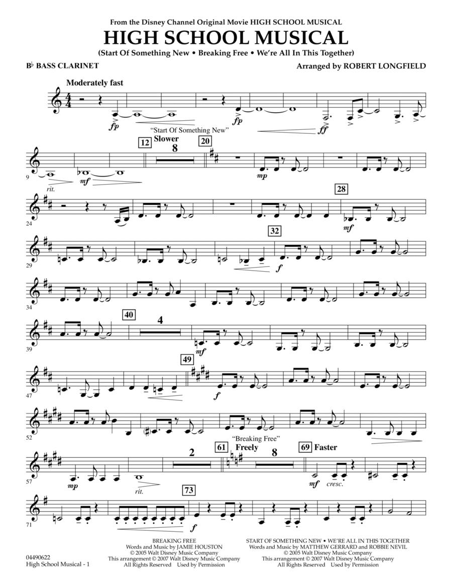 High School Musical - Bb Bass Clarinet