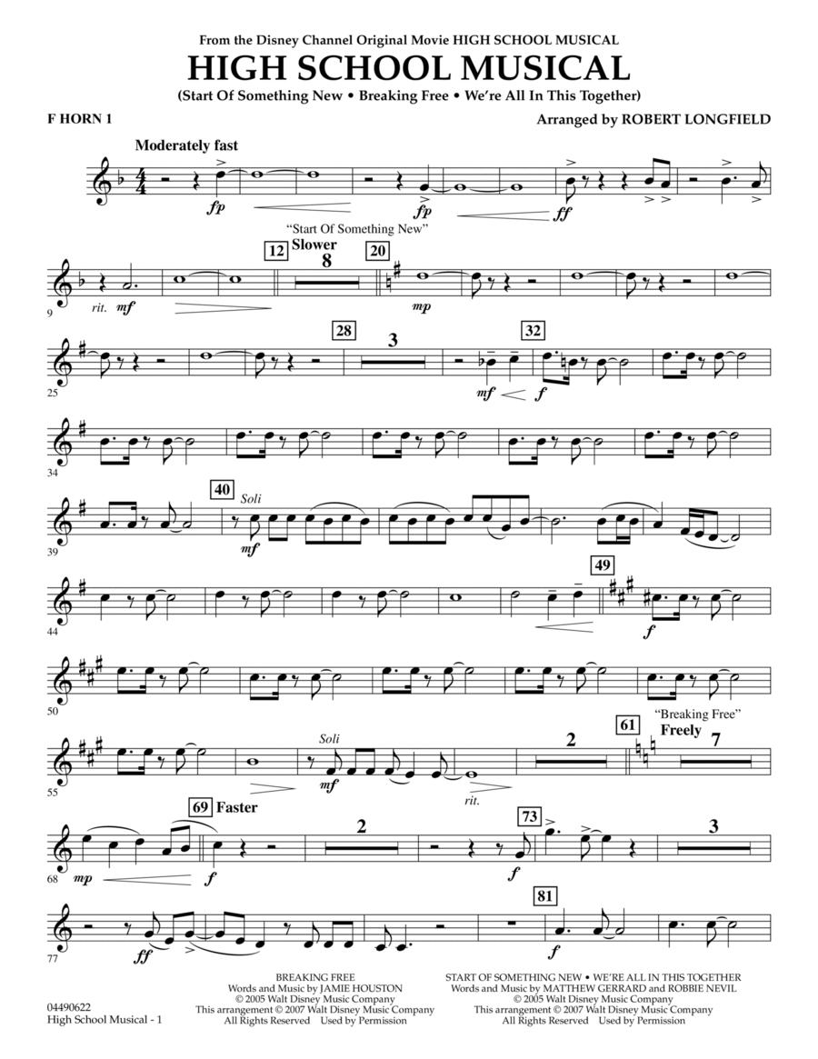 High School Musical - F Horn 1