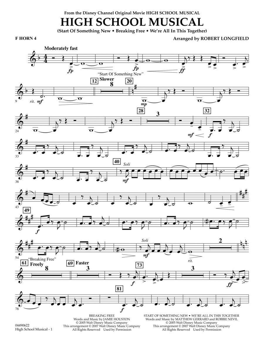 High School Musical - F Horn 4