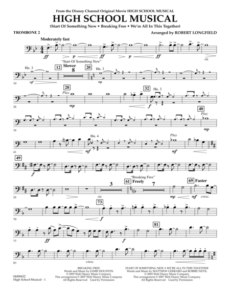 High School Musical - Trombone 2