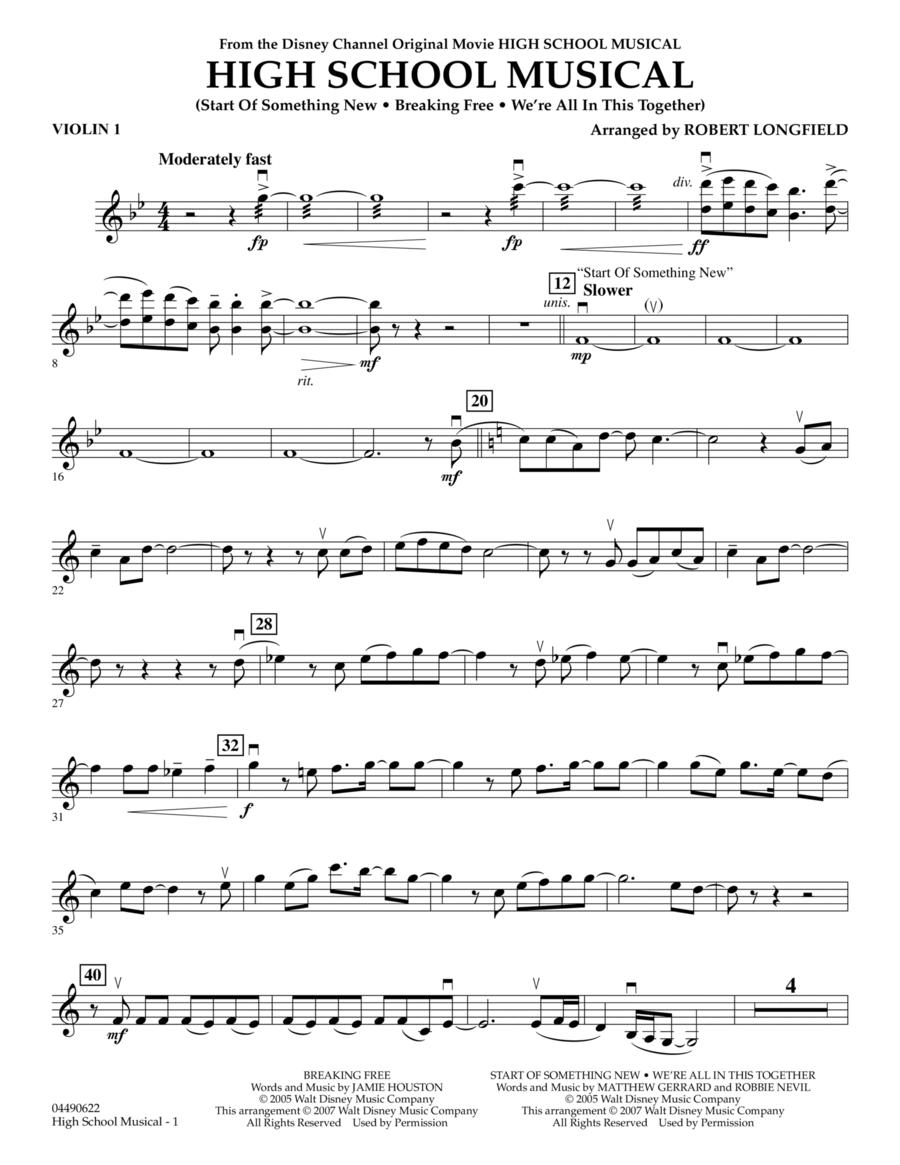 High School Musical - Violin 1