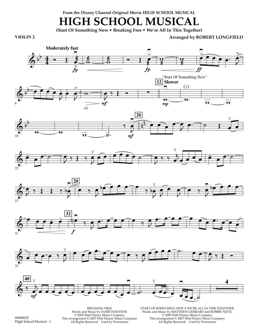 High School Musical - Violin 2