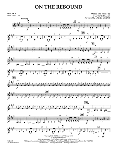 On the Rebound - Violin 3 (Viola Treble Clef)