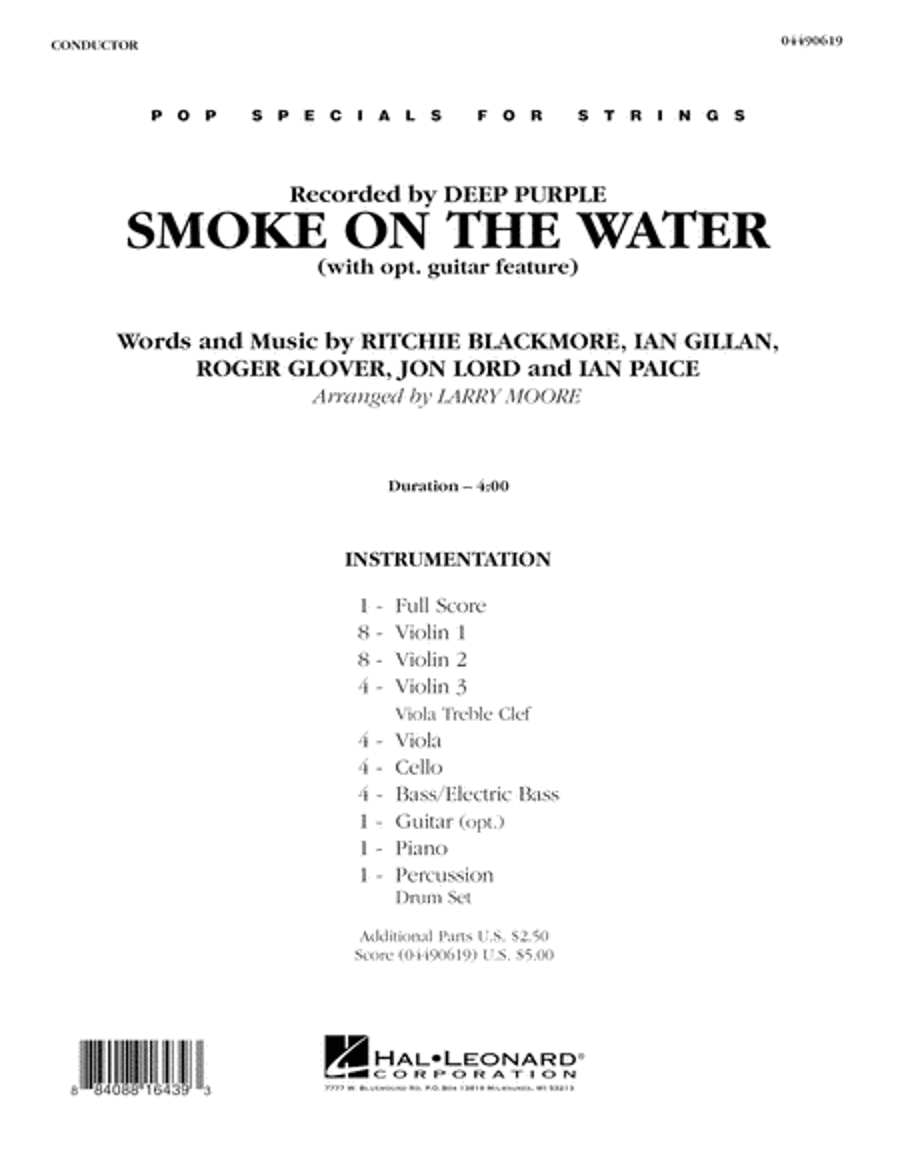 Smoke on the Water - Full Score
