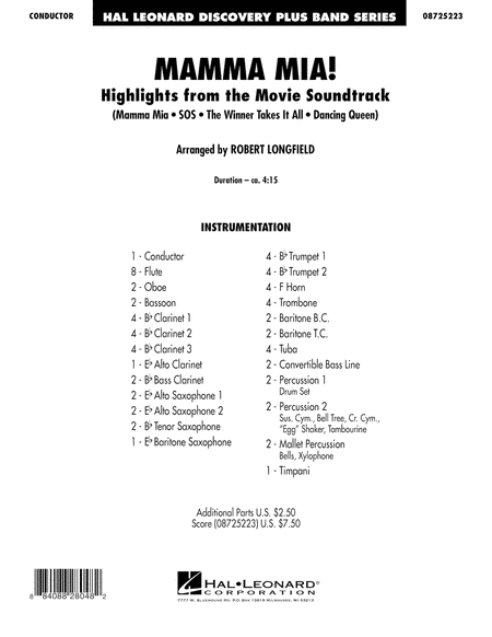 Mamma Mia! - Highlights from the Movie Soundtrack - Full Score