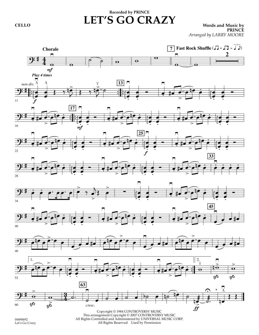 Let's Go Crazy - Cello