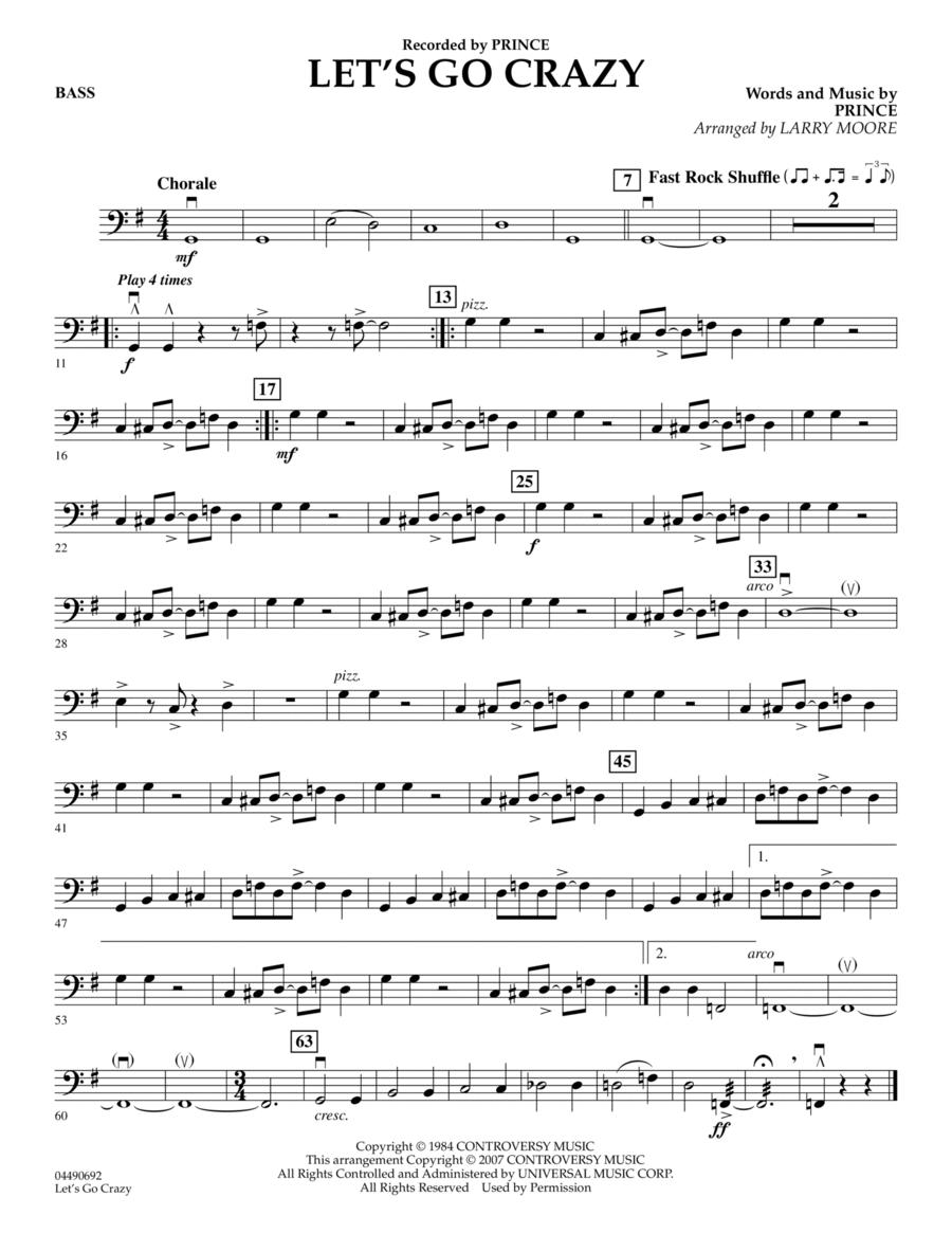 Let's Go Crazy - Bass