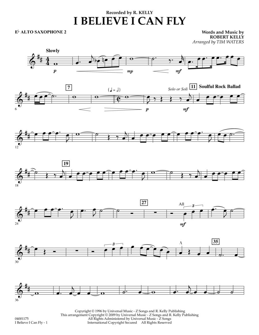 I Believe I Can Fly - Eb Alto Saxophone 2