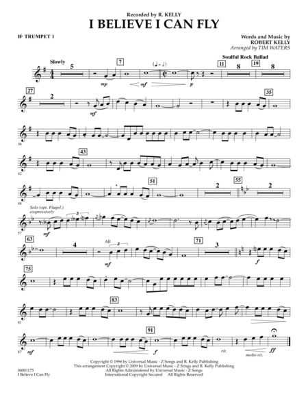 I Believe I Can Fly - Bb Trumpet 1