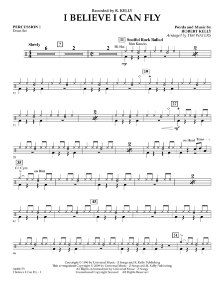 I Believe I Can Fly - Percussion 1